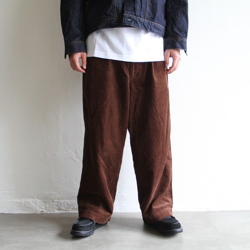 H.UNIT【 mens 】corduroy crownsize trousers
