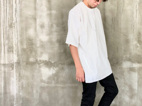 side pocket cut sew White