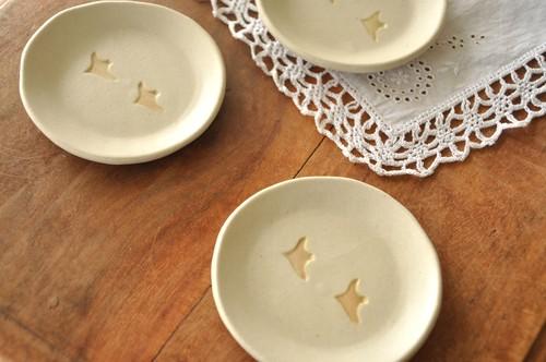 渡り鳥の豆皿(陶器)