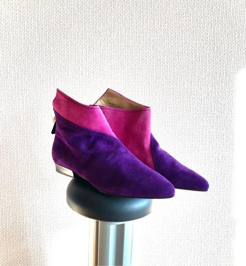 "VERSACE ""Bi-Color"" Short Boots #02 -purple×Pink Purple- -Dead Stock!-"