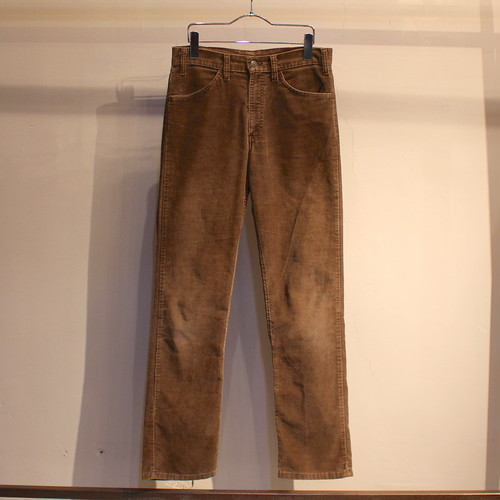 70s Levi's 519 corduroy pants ''BROWN'' / UB419