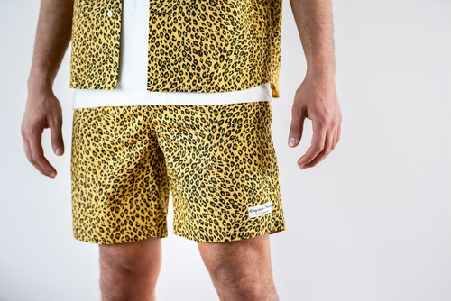 ThreeArrows Leopard SHORTS (yellow)