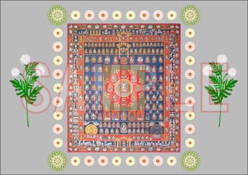 曼荼羅の絵 サイズA4