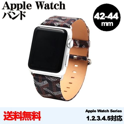 渋いデザインがクール!  apple watch バンド 42mm-44m 互換 Series 54321  アップルウォッチ PUレザーバンド (柄)