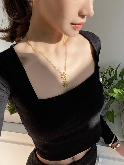 UCN-6G T-BAR Clip Necklace (チェーンのみ)