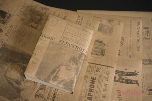紙製ブックカバー ビクトリア朝イギリスの広告