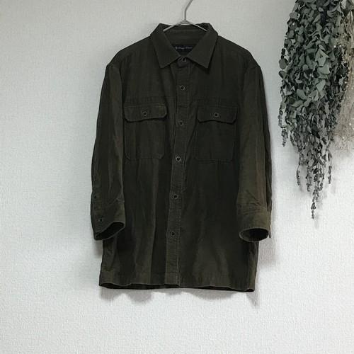 【LOUNGE LIZARD】 コーデュロイ七分丈シャツ TN-11