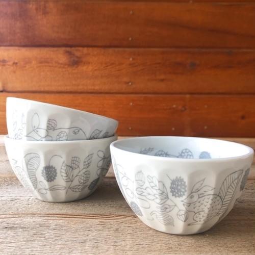 Matsuo Miyuki Ripple bowl Squirrel nuts 松尾ミユキ陶器ボウル