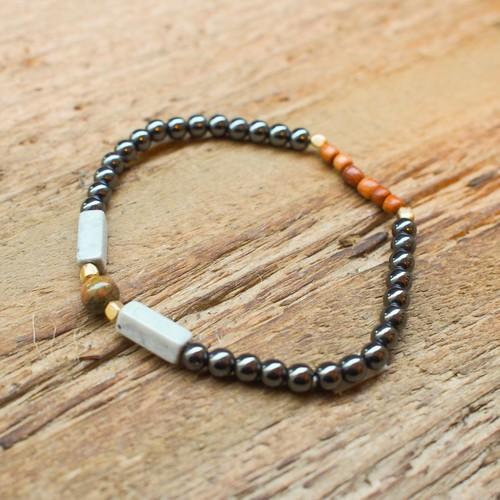 【Unakite】×【Hematite】bracelet