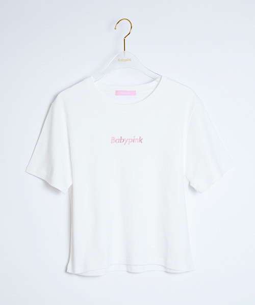 Front Logo Embroidery S/S Tee White