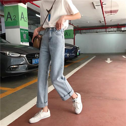 【ボトムス】ファッション無地カジュアル合わせやすいデニムパンツ22441511