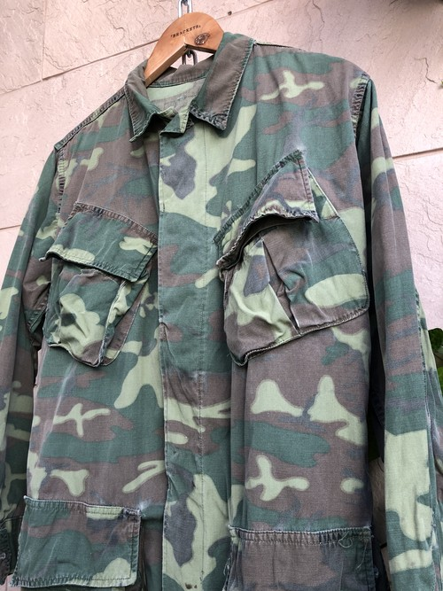 1960s US ARMY camouflage jungle fatigue jacket non-rip