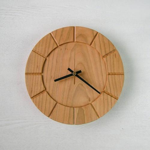 木の時計01(Φ240) No17   山桜
