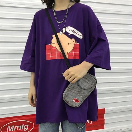 【トップス】七分袖カートゥーンストリート系Tシャツ20480760