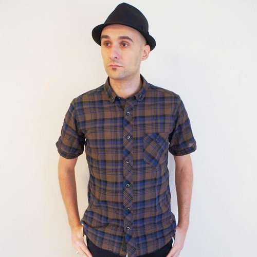 DARK CHECK SHORT ROUND B.D. SS SHIRT   Brown / Blue / Black