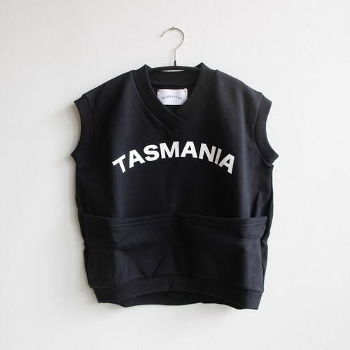 《michirico 2021SS》TASMANIA sleeveless tops / black / S・M