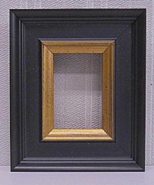 額縁アンティークおしゃれフレームブラック刃先金B-403B額縁寸法70mm×50mm窓枠寸法54mm×34mm 穴あけ棒スタンド/卓上壁掛け兼用