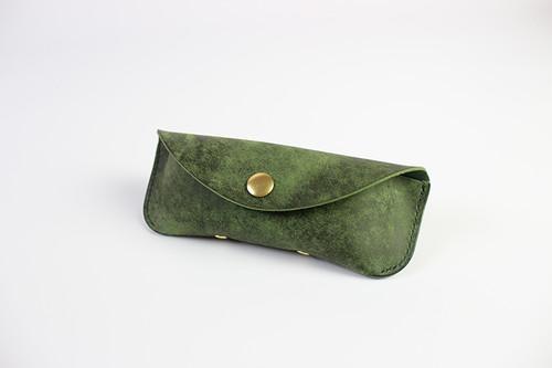 JAPAN LANSUI DESIGN 名入れ対応 ヌメ革手作り手縫い メガネケース 品番GRF323253S7