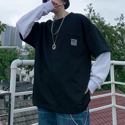 レイヤードポケットTシャツ BL4693