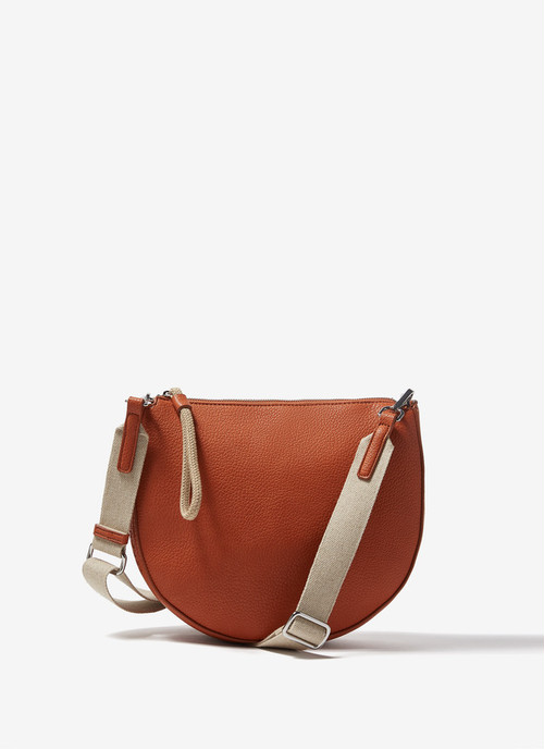 GRANULATED FAUX LEATHER CROSSBODY BAG