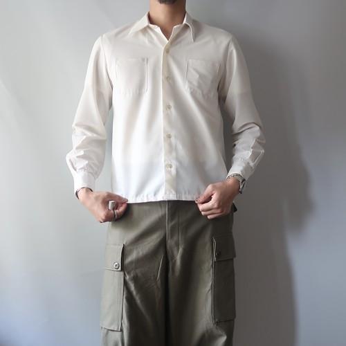 1970s white nylon shirt / France