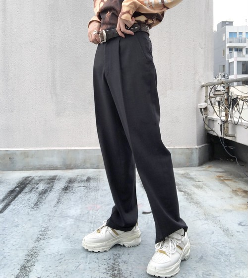 USED / Hi - waist summer trousers -dgray-