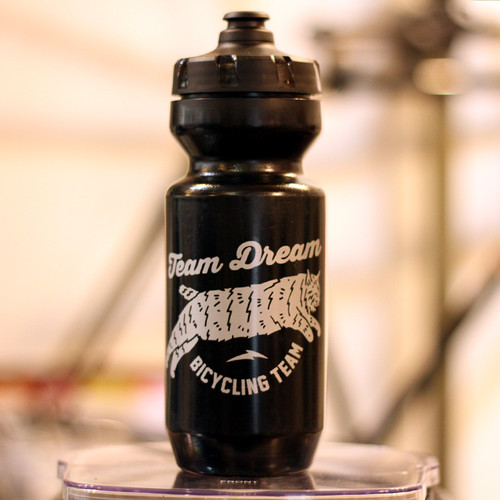 TEAM DREAM 22oz Chubby Bobcat Bottles / Silver/Black