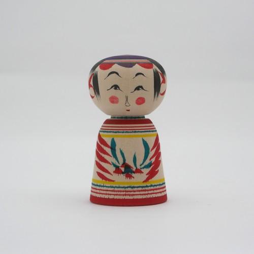 小寸 こけし 星定良工人(弥治郎系) #2-21 伝統こけし