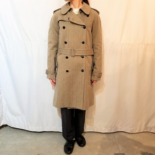 PAUL&JOE herringbone trench coat  / Made in France[1248]