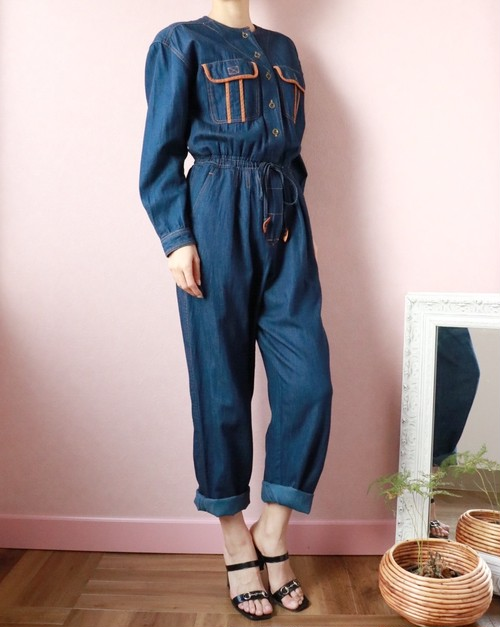 vintage denim all-in-one