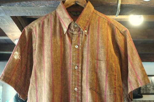 """early 70's Sears PERMA """"PREST"""" striped s/s Shirt"""