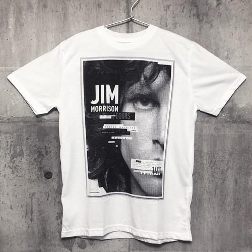 【送料無料 / ロック バンド Tシャツ】 THE DOORS / Jim Morrison Men's T-shirts White M ドアーズ / ジム・モリソン メンズ Tシャツ 白 M