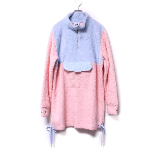 【SOMEWHERE NOWHERE】PASTEL FURRY HIGH NECK SWEATER DRESS