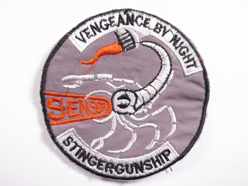 "OLD PATCH""VENGEANCE BY NIGHT STINGERGUNSHIP"""