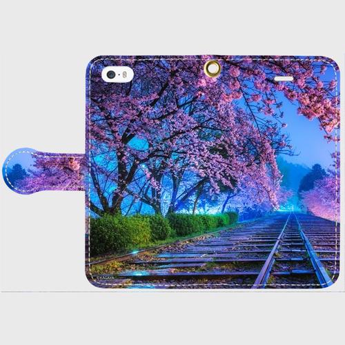 (iPhone5/5s/SEサイズ)手帳タイプ:夢色の軌道(KAGAYA)