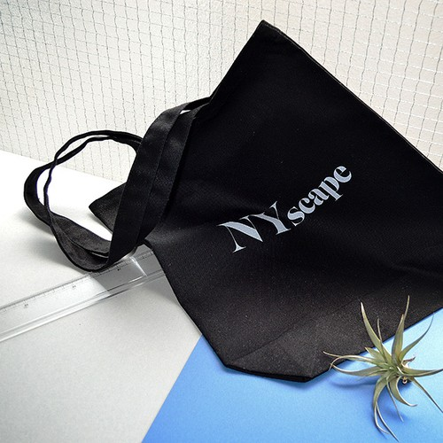 NYscape ロゴ トートバッグ【Black】