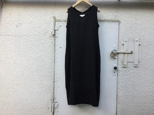 "Womens AUGUSTE-PRESENTATION Pajama look "" ノースリーブワンピース "" BLACK"