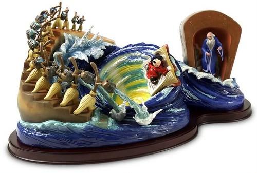 ディズニーフィギュア ファンタジア wdcc 魔法使いミッキーは、魔術の渦を掃きます ディズニー置物 4004520
