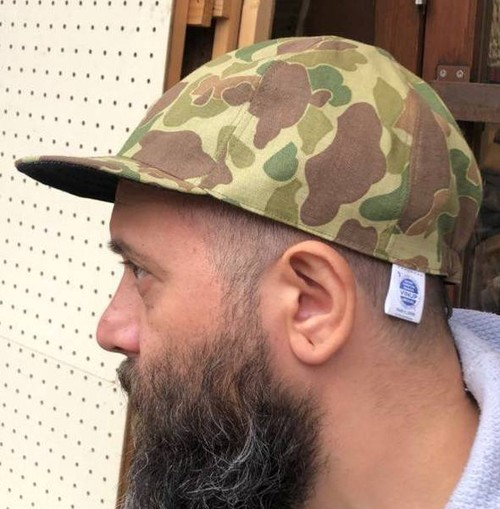 Reversible Cap, Duck Camo x Denim, Made in Japan