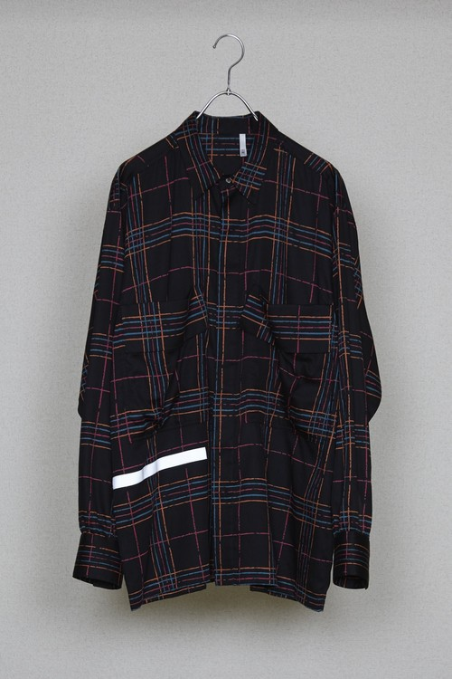 【HUMIS】CHEMICAL FLY-FRONT SHIRT