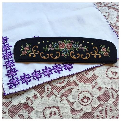 ヴィンテージ ヘアコーム 刺繍ケースセット