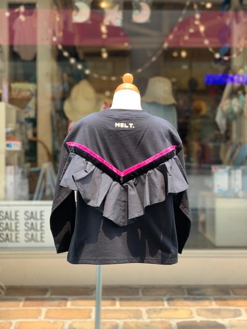 KIDS:melt【メルト】FALL IN LOVE ユルメナガソデTEE(ブラック/100〜120cm)ロングスリーブTシャツ