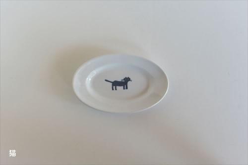 【トラネコボンボン 】楕円皿(小)