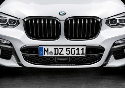 BMW純正部品 G01 X3 シリーズ用 G02 X4 シリーズ用 M PERFORMANCE ブラックキドニーグリル 左右セット 取付説明書添付