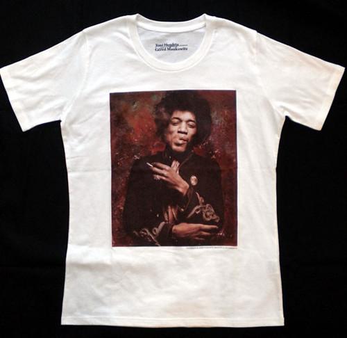 Jimi Hendrix Tシャツ(スモーク・ホワイト M)