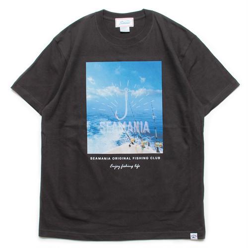 【Seamania】オーシャンフォトTシャツ[SUMIBLK]