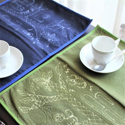 モン族 バティックテーブルマット