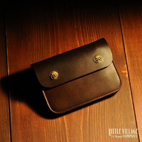 "Original Truckers' Wallet ""Short"" w/ Brass Buttons : Brown"