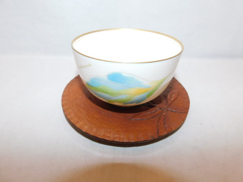 木製丸コースター(5客) wooden Japanese tea six saucers(No30)