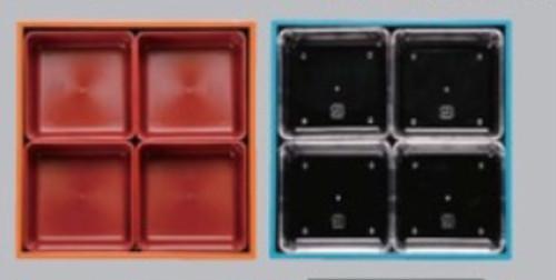 5寸重用 各ブロック仕切り(朱・透明)